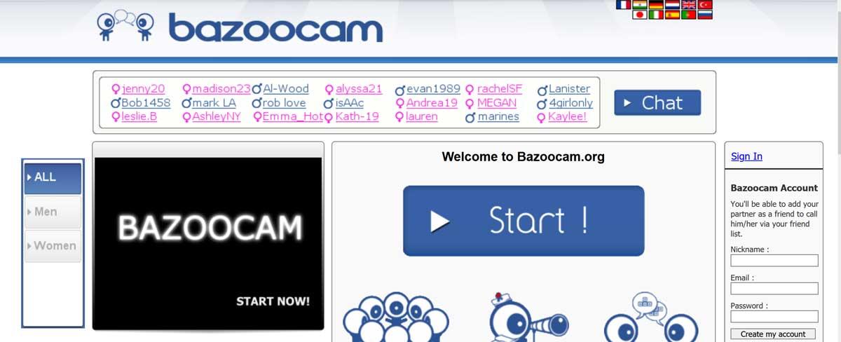 Cam chatroulette francais bazoocam chat Most Popular
