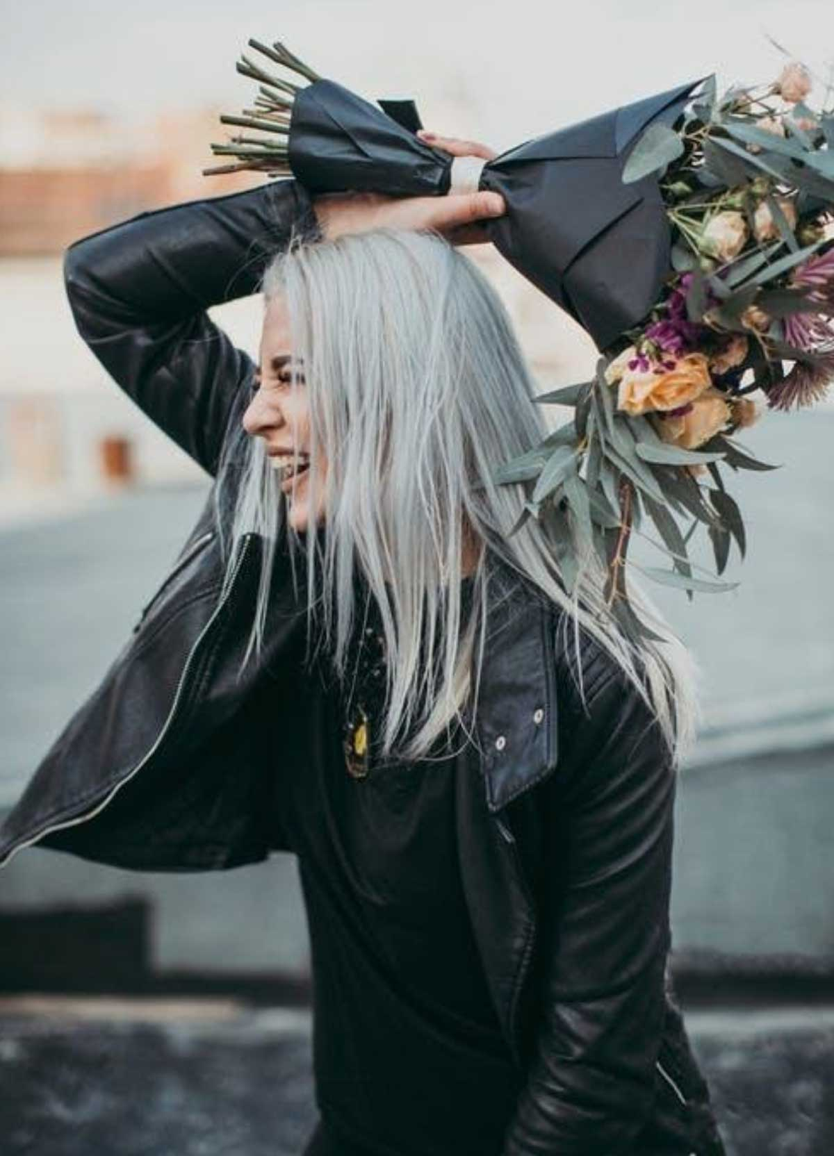 Hairs turn gray