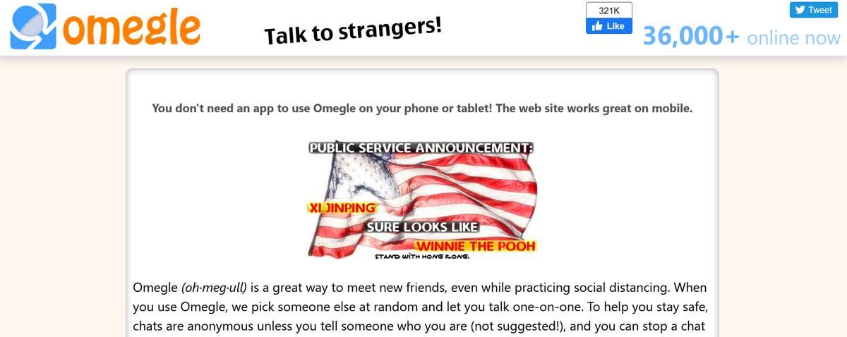 Chat service text random Free Online