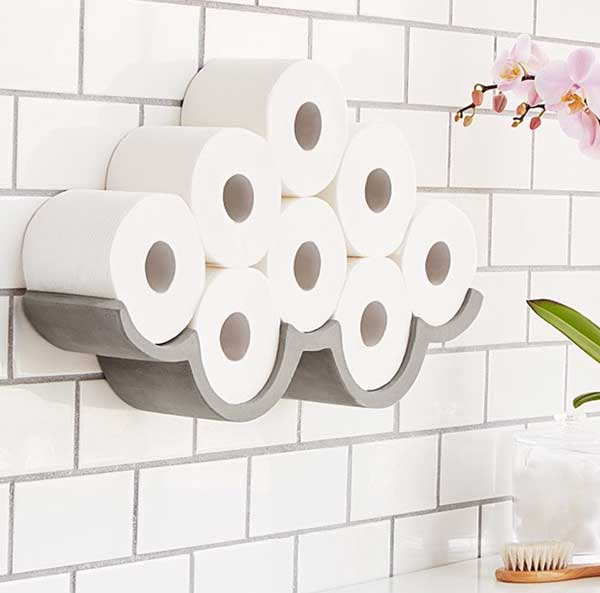 Cloudy Day Toilet Paper Storage Holder
