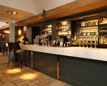 Pub Bar Counters In Wood & Marble