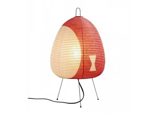 Red Akari Table Lamp