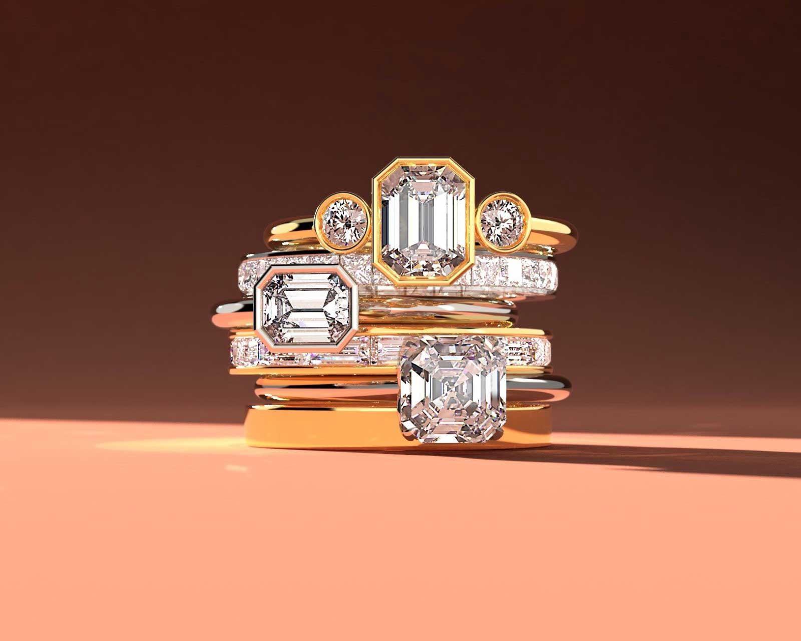 Step-Cut Diamonds